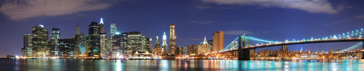Fototapete - New York City Manhattan skyline panorama