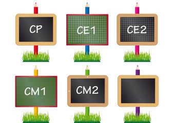 Ardoises_Crayons x 6 Ecoles