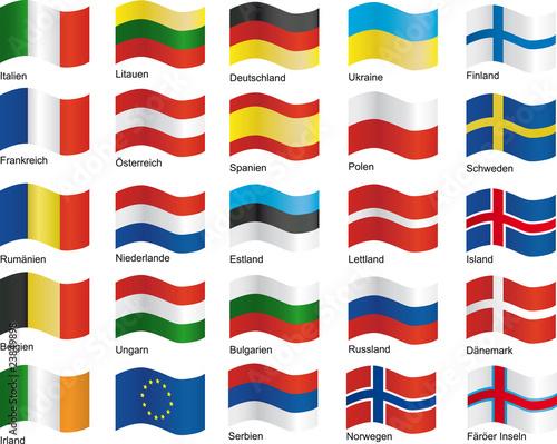 """""""europa flaggen 01"""" stockfotos und lizenzfreie vektoren"""