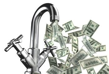 rubinetto banconote dollari
