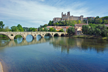 The River Orb at Beziers, France