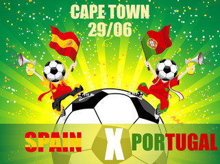 Spain Versus Portugal Soccer Game