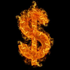 Fire dollar sign