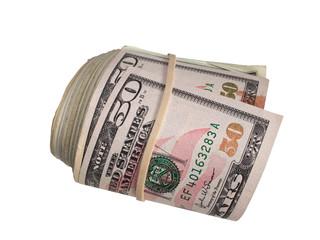 A large roll of 50 Dollar Bills