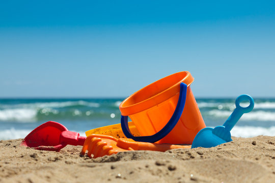Plastic toys for beach