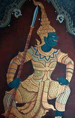 a demon in the Ramayana painted on wall