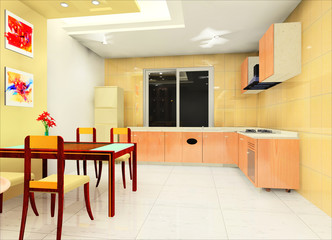 a modern kitchen interior design
