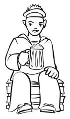 Seaman with a beer mug