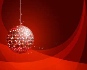 Abstract background with disco ball.