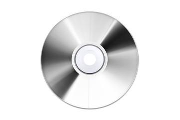 compact-disc argento su fondo bianco