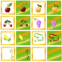 Fruit sticker, vector