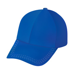 Realistic Blue Baseball cap