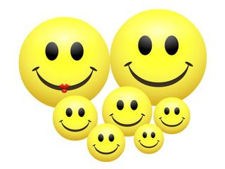 Les Smiley avec leurs enfants