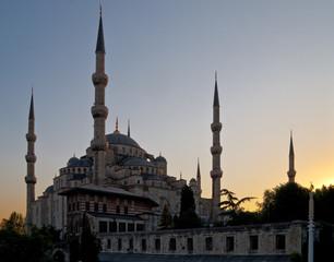 Blaue Moschee, Istanbul, am Abend