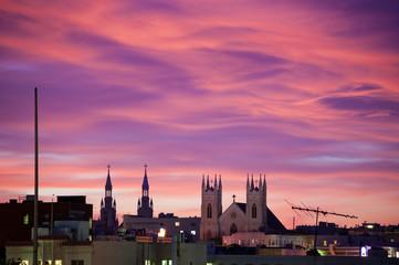 City at Purple Dusk
