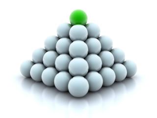 Pyramid from balls