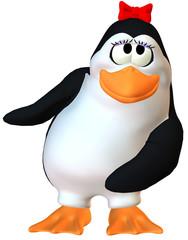 dancing female penguin