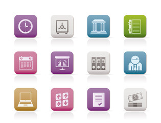 Business, finance and office icons - vector icon set