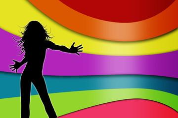 hintergrund disko party