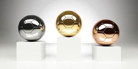 Fussball Siegerpodest Pokal