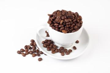 grain coffee & white cup