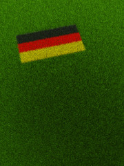 Deutschland Fahne aus Gras