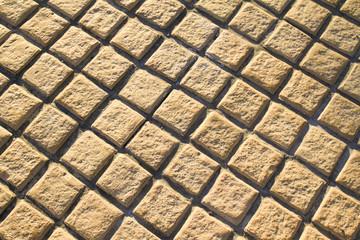 Foto op Canvas Geometrisch brick floor pavement