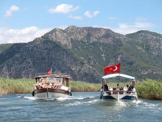 trip on Dalyan river, Turkey