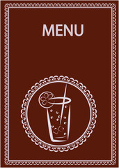restaurant and juice bar menu design