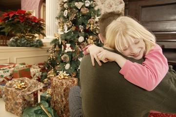 Christmas Morning Hug