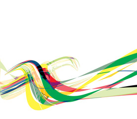 abstract rainbow wave line