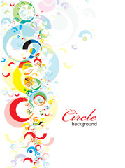 intensive rainbow colors circle background