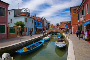Venice, Burano island canal
