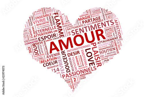 Coeur rempli de mots d 39 amour fichier vectoriel libre de - Image de coeur damour ...