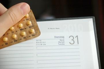 Pille und Kalender