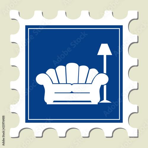 Sofa & Lamp Sign Stamp