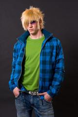 fashion emo guy portrait