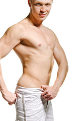 Faceless male torso