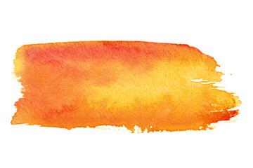 Orange brush strokes