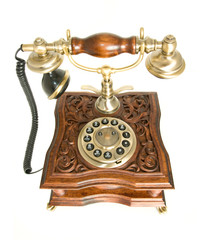 Top view of Old-fashioned telephone