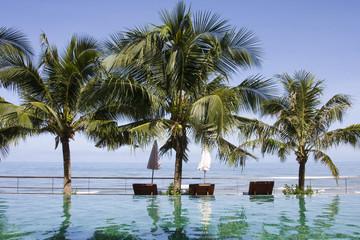 Beautiful tropical beach at island Koh Chang , Thailand.