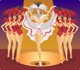 Cabaret showgirls