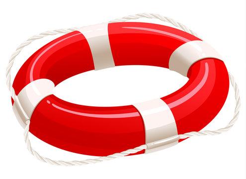 Life buoy, cartoon vector illustration