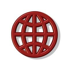 Globus Symbol 3D