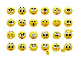 Set of amusing smilies