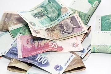 südafrikanische rand scheine 10, 20, 50, 100