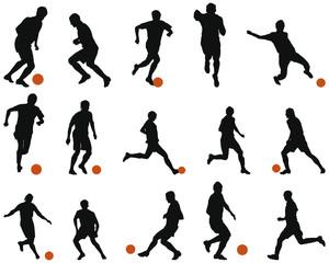 soccer silhouette set