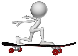 3d human character skate run