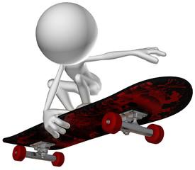3d human character skate jump