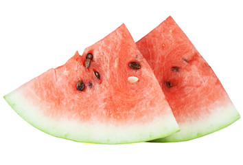 Two segments of the watermelon